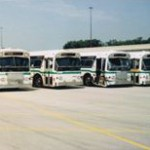 MCTS bus lineup at County Stadium, Tom Matola